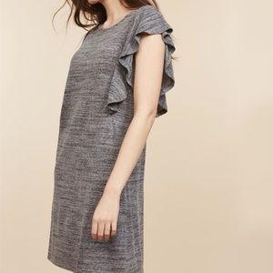 b77cd1047c31 Motherhood Maternity Dresses - NWT Gray Flutter Sleeve Nursing Dress. XL